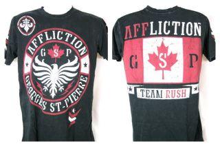 GSP Georges St Pierre Seal Black Affliction Premium T shirt New