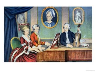 Portrait of Leopold Mozart and His Children, Wolfgang Amadeus and Maria Anna 1780 81 Giclee Print
