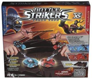 Mega Bloks Battle Strikers Komplettes Turnier Set beyblades Kreisel