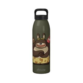 Cute Bears Funny Cartoon Characters Kawaii Bottle Water Bottles