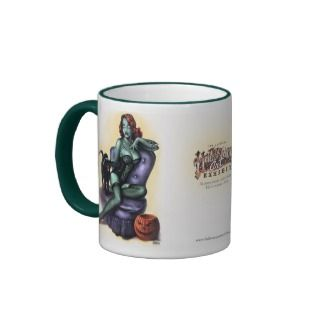 Halloween Art 10th anniversary Zombie Girl Pin Up Coffee Mugs