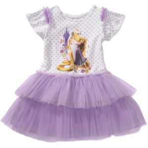 Disney Tangled Rapunzel   Baby Girl   Tulle Tutu Dress   18 m 24 m 3 T