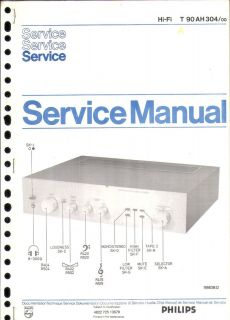Philips Original Service Manual für T 90 AH 304