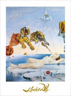 Salvador Dali Tiger Seconde avant l´eveil Poster Bild