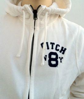 Abercrombie Fitch Herren Hoodie Sweatshirt Hollister Weiß Neu Sweater