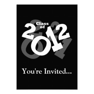 Playful Numbers, Class of 2012 Graduation Design Invites