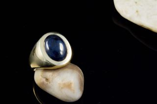 Edler Saphir Ring mit 7,20 Carat in massivem 750er Gelbgold