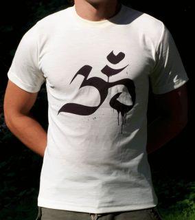 OM tai chi goa hippie yoga psytrance buddha shirt gr L