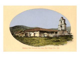 San Antonio de Pala Mission, San Diego, California Giclee Print