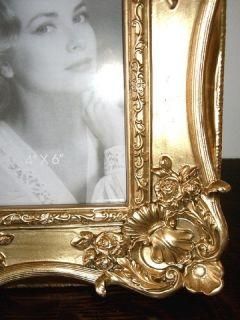 Antik  Barock Stil Bilderrahmen Fotorahmen Gold Rahmen für Foto 15 x