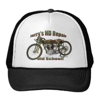 Jerrys HD Repair Ball Cap, Old School! Trucker Hats