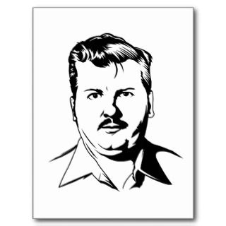 John Wayne Gacy retro serial killer portrait Postcard