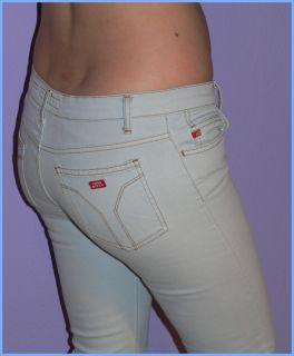 MISS SIXTY Jeans ♥EXTRA LOW TOMMY♥ EISBLAU WEISS STRETCH TY