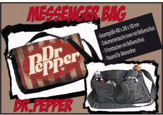 Messenger Bag Dr. Pepper  Retro, Schultertasche, Schultasche