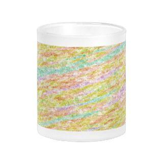 Artistic Rainbow Colors Scribble Pattern Drinkware Coffee Mugs