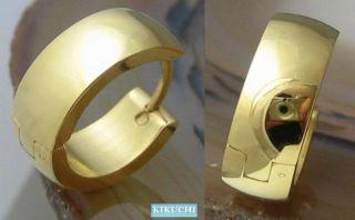 316L Edelstahl Damen Ohrringe Herren Creolen gold 6mm/16mmØ