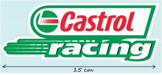 2X Castrol Racing Aufkleber Vespa Lotus Decal STICKERS