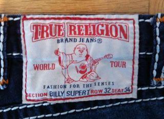 Original True Religion Jeans Hose W32 L34 BILLY SUPER T