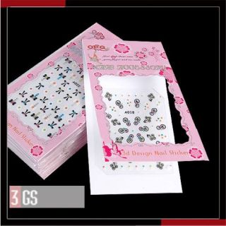 20 x 3D Nail Art Mix Tattoos Nagel Sticker HOT SALE