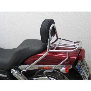 Beifahrer Sissy Bar mit Kissen und Gepäckträger für Harley Davidson