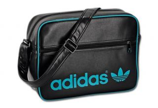 Adidas Originals Airline Bag Schwarz / Grün Z21066 Schultertasche Neu