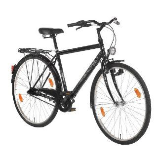 Texo Herren City Fahrrad, 3 Gang, tiefschwarz, Rahmenhöhe 55 cm