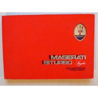 Maserati Biturbo Spyder 2, 0 l 180 PS owners manual / uso e