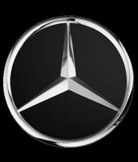 Satz Original Mercedes Benz Radnabendeckel Stern erhaben mattschwarz