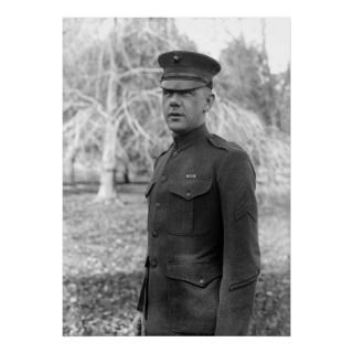 Sergeant, Marine Corps uniform. Photo taken between 1916 and 1918.