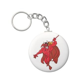 Vengeful Red Demon Key Chains