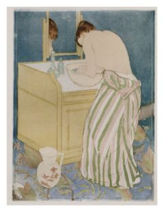 Woman Bathing, 1890 91 Giclee Print by Mary Stevenson Cassatt