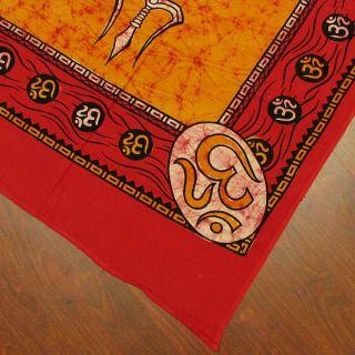 Indische Batik Shiva Wandbehang Tagesdecke Wandteppich Ethnische Kunst
