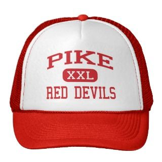 Pike   Red Devils   High   Indianapolis Indiana Mesh Hats
