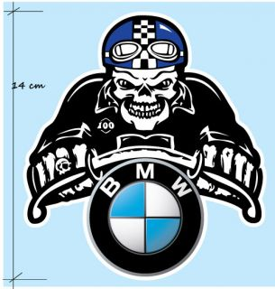 BMW Skull Cafe Racer Motorrad AUFKLEBER Ghost Rider Motorcycle Decal