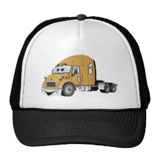 Semi Truck Gold Cartoon Hat