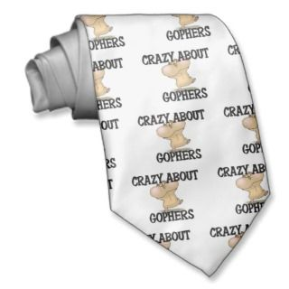 Crazy About Gophers Tie