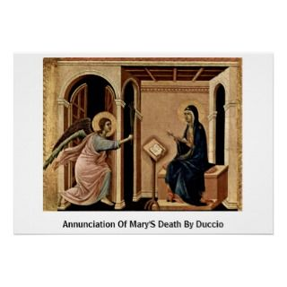 Annunciation Of MaryS Death By Duccio Print