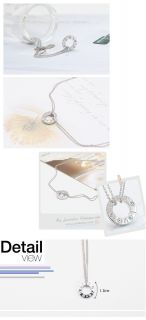 Korea Star Accessories JYJ Yu Chun Double Chain Silver Ring Necklace