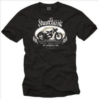 Motorrad T Shirt für Herren DKW RT 250 Oldtimer schwarz
