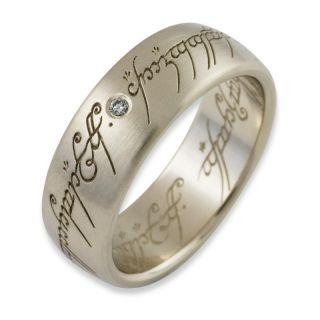 der Ringe Schmuck Ring aus 333 Weissgold mit 0.03ct Diamant