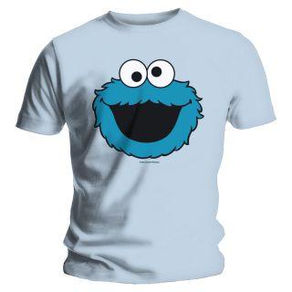 Sesame Street Cookie Head Blue Official T Shirt XL Extra Large NEU