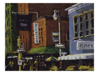 Blue Moon Cafe, New York City Giclee Print by Patti Mollica