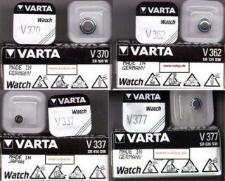 2x Varta Silber   Silver Knopzellen Uhrenbatterien Freie Auswahl