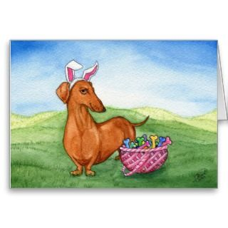 Funny Easter Dachshund Card cards by terrypond