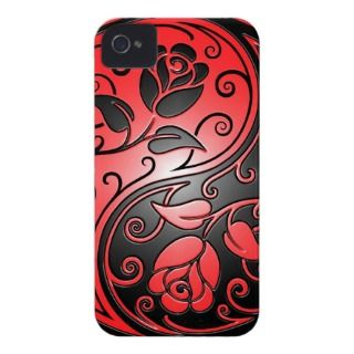 Yin Yang Roses, red and black iPhone 4 Covers