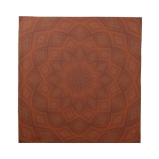 Geometric Burnt Orange Printed Napkins