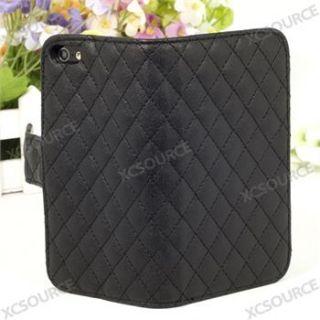 iPhone 5 Leder Tasche Case Etui Schutz Hülle Bumper Flip Case Schwaz
