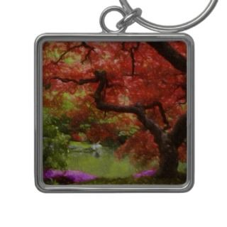 Old Japanese Maple Key Chain