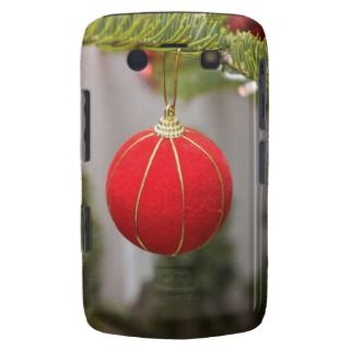 Red Christmas tree ornament Blackberry Cases