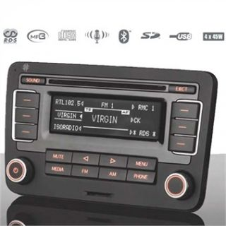 TELEFUNKEN Autoradio CD MP3 USB SD Bluetooth Volkswagen VW Golf 6 VI